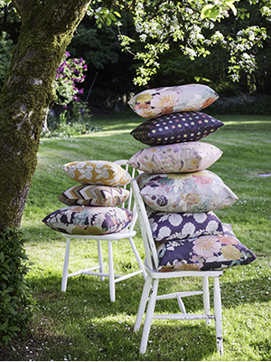 Fabrics per metre £66.00 and cushions start from £49.50.