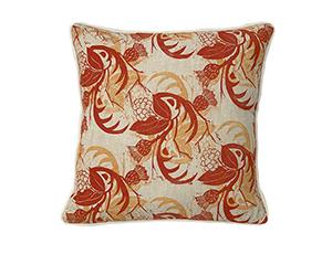 Fabrics £60 per metre Oldfield orange cushion£79.50.