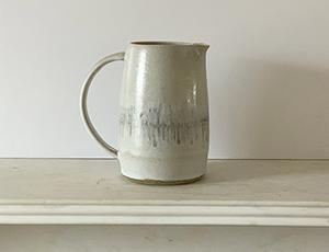 Unique jug with line decoration £70.00.